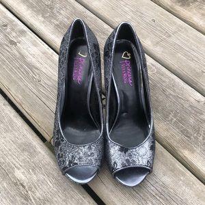 Vera Wang Princess Open Toe Heels